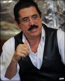 Manuel Zelaya on 12 October