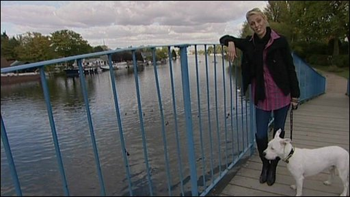 Camilla Dallerup and dog