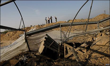 Destroyed Gaza tunnel, 14 October 2009