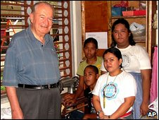 An undated picture of Reverend Michael Sinnott in the southern Philippines