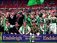Argyle at Wembley in 1996