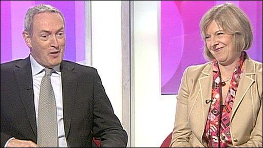 John Hutton and Theresa May
