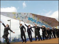 Giant paper aeroplane