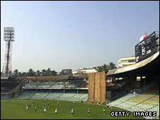 The Wankhede Stadium in Mumbai, pictured in 2001