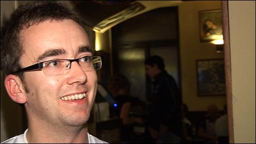 Northern Ireland supporter Gareth Todd held the charity fund-raiser in Prague