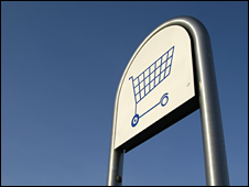 Shopping trolley sign
