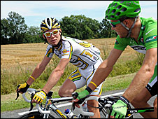 Mark Cavendish and Thor Hushovd