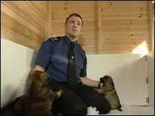 Dog training Sergeant, Steve O'Connell
