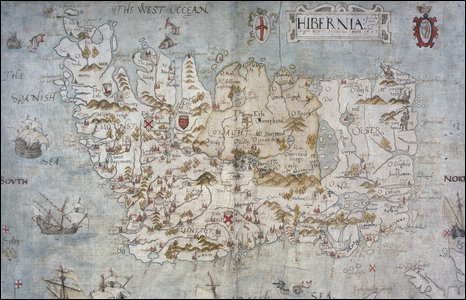 Map of Ireland from 1567