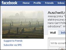 Auschwitz Facebook page