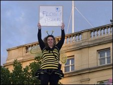 Jane Clyne in her bee costume