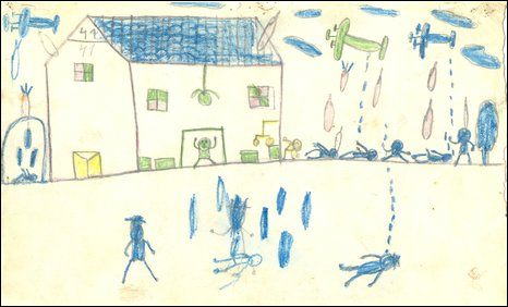 Child's drawing of Guernica