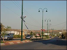 New street at entrance to Qalqilya