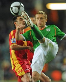 Damien Duff and Nikola Drincic