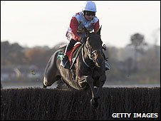 Ollie Magern, under Paddy Brennan, wins at Wetherby in November 2007