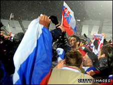 Slovakia triumphed on a snowy night in Chorzow