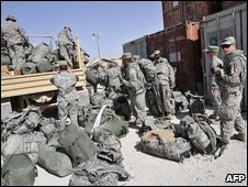US troops in Afghanistan. File pic
