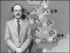 Michael Fish reads the weather