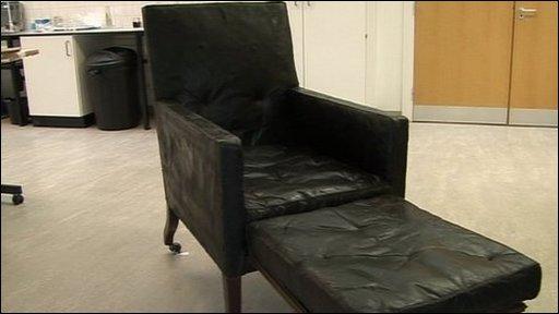 Nelson's restored chair