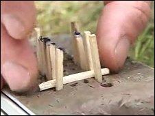 Matchstick model