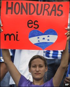 Honduran football fan