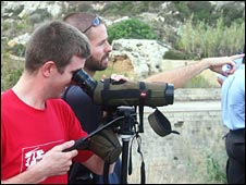 BirdLife Malta volunteers, pic courtesy of BirdLife Malta