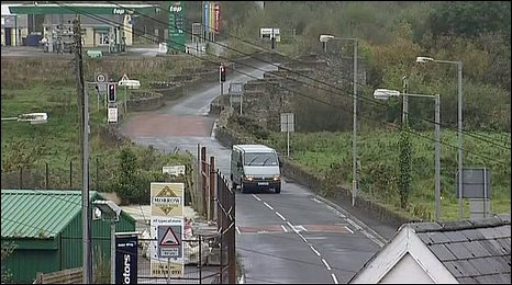 The van was abandoned on a bridge in the village of Clady