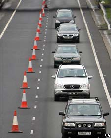 Traffic in roadworks