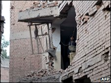 House damaged after 15 October car bombing in Peshawar