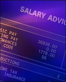 A salary slip