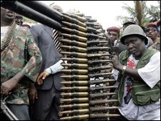 Militants in Nigeria who have surrendered