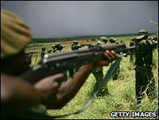Congolese soldiers being trained (file photo)