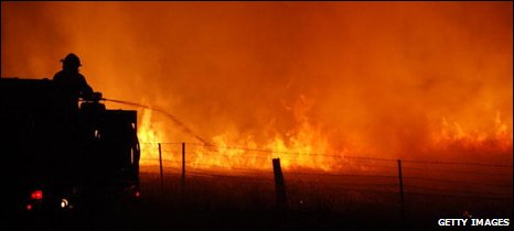 Bush fires in Victoria, Australia, Feb 2009