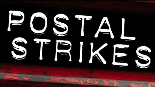 Postal strikes graphic