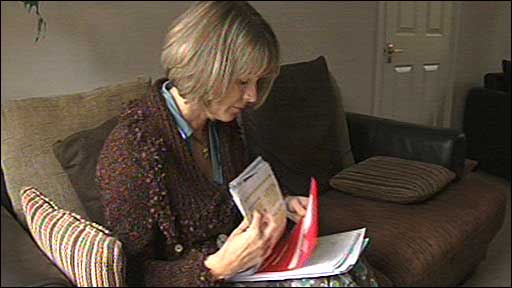 Susan Brown looks through letters