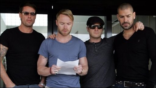 Boyzone members make a statement