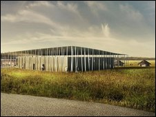 Artist's impression of the new Stonehenge visitor centre