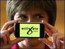 Nicola Sturgeon with Activate system