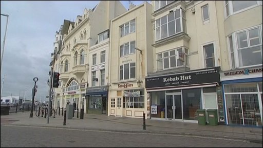 Scene of the attack in Hastings