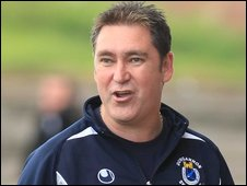 Dungannon Swifts manager Dixie Robinson