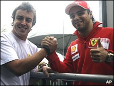 Fernando Alonso and Felipe Mass