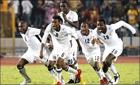 Ghana celebrate victory in Cairo