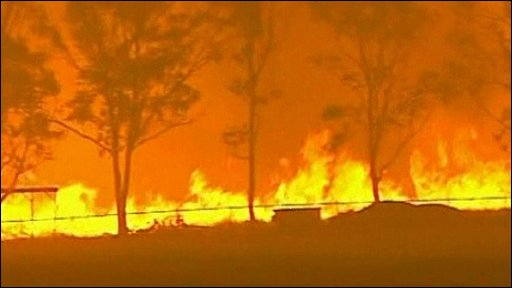Hundreds of firefighters are battling a string of wildfires in Australia.