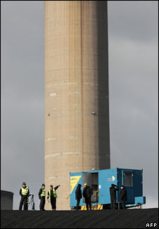 Protest at coal power station