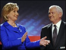 Hillary Clinton and Robert Gates in Washington, 5 October 2009