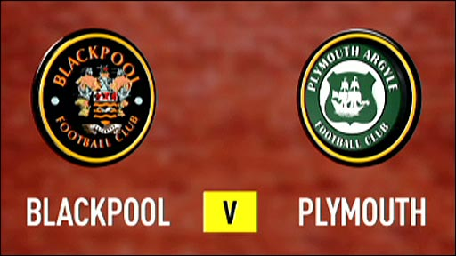 Blackpool v Plymuth Argyle