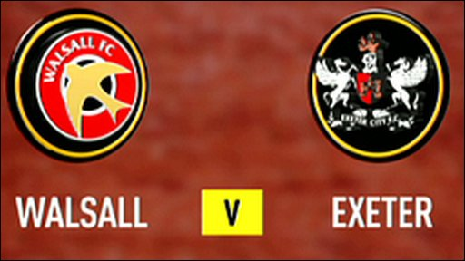 Walsall 3-0 Exeter