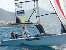 GB sailors Alex Rickham and Niki Birrell