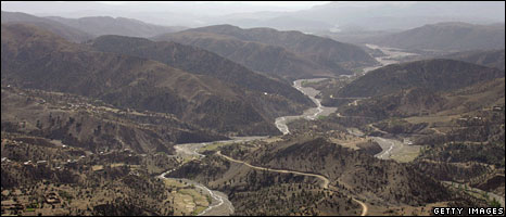 Aerial shot of South Waziristan