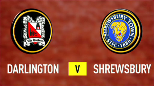 Darlington 2-1 Shrewsbury